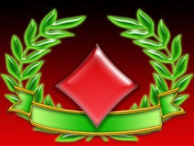 Poker banner diamonds stock images