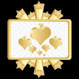 Poker banner-heart Royalty Free Stock Image