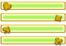 Poker banner set royalty free stock images
