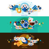 Poker banners set Royalty Free Stock Image