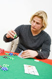 Poker bet Stock Photography
