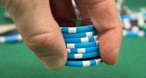 Poker bet Stock Photography