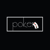 Poker on black with card Royalty Free Stock Photography