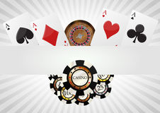 Poker blank background Stock Images