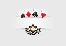 Poker blank background Stock Image