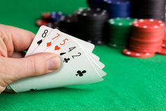 Poker Bluff Stock Photo