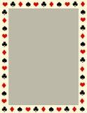 Poker border / frame Stock Image