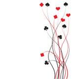 Poker, bridge - card game. Vector illustration Stock Photography