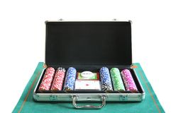 Poker briefcase. Royalty Free Stock Photo