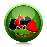 Poker Button Royalty Free Stock Images