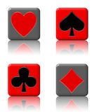 Poker button set Royalty Free Stock Photo
