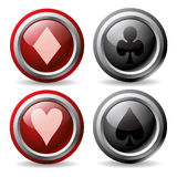 Poker buttons Royalty Free Stock Images