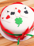 Poker cake Stock Photography