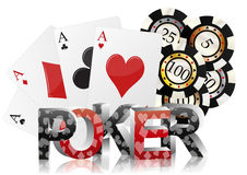 Poker card Stock Photos