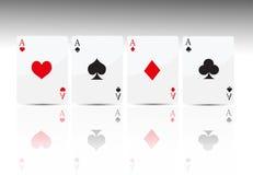 Poker card 4 ace Stock Image