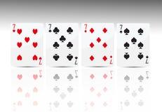 Poker Card 4 Seven Stock Image