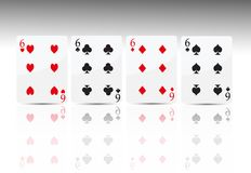 Poker Card 4 Six Royalty Free Stock Photography