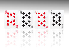 Poker card 4 tens Stock Images