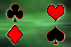 Poker card. Green background Royalty Free Stock Image