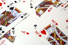 Poker card background Stock Images
