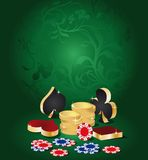 Poker card, background for casino Royalty Free Stock Photo