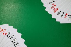 Poker card copy space stock photography