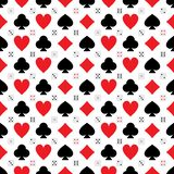 Poker card cube icon symmetry seamless pattern. This illustration is design poker card cube icon symmetry seamless pattern on white color background vector illustration