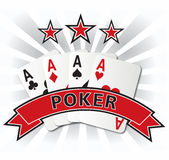 Poker card design illustration Stock Images