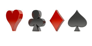 Poker card elements Stock Photos