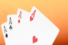 Poker, card game Royalty Free Stock Photography