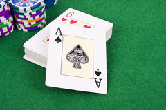 Poker card Stock Photography