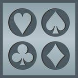 Poker card icons Stock Image