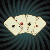 Poker card illustration Stock Photos