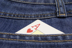 Poker card. Pocket Royalty Free Stock Photography