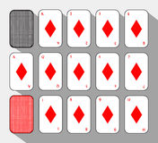 Poker card. SETH DIAMOND. white background to be easily separable. Stock Image