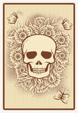 Poker card with skull, vector Royalty Free Stock Photos