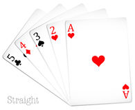Poker card in straight hand Royalty Free Stock Photo
