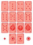 Poker card suit theme Stock Images