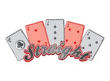 Poker card suit theme Royalty Free Stock Image