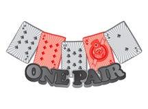 Poker card suit theme Stock Photo