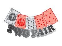 Poker card suit theme Royalty Free Stock Photos