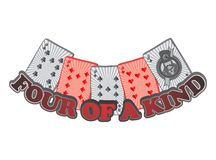 Poker card suit theme Stock Image
