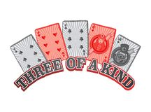 Poker card suit theme Royalty Free Stock Photography