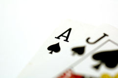 Poker Cards. Poker Card Series - Ace and Jack Royalty Free Stock Photography