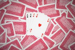Poker cards Royalty Free Stock Photography