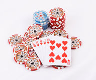 Poker cards. Close-up view of the poker cards Royalty Free Stock Photos