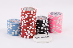 Poker cards. Close-up view of the poker cards Royalty Free Stock Photo