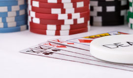 Poker cards. Close-up view of the poker cards Royalty Free Stock Photography