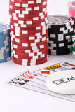 Poker cards. Close-up view of the poker cards Royalty Free Stock Image