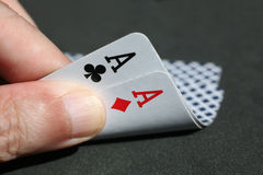 Poker cards Stock Images